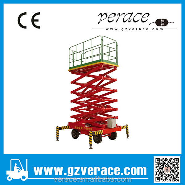 Best price 6M Liffting Height Mobile Scissor Lift electric platform one year warranty