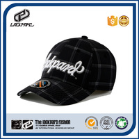 3D embroidered logo tartan pattern scottish hat with market fabric