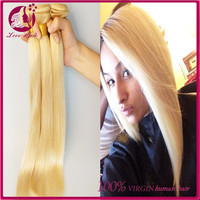 Aliexpress cheap russian hair straight wholesale factory price 613 human hair weft