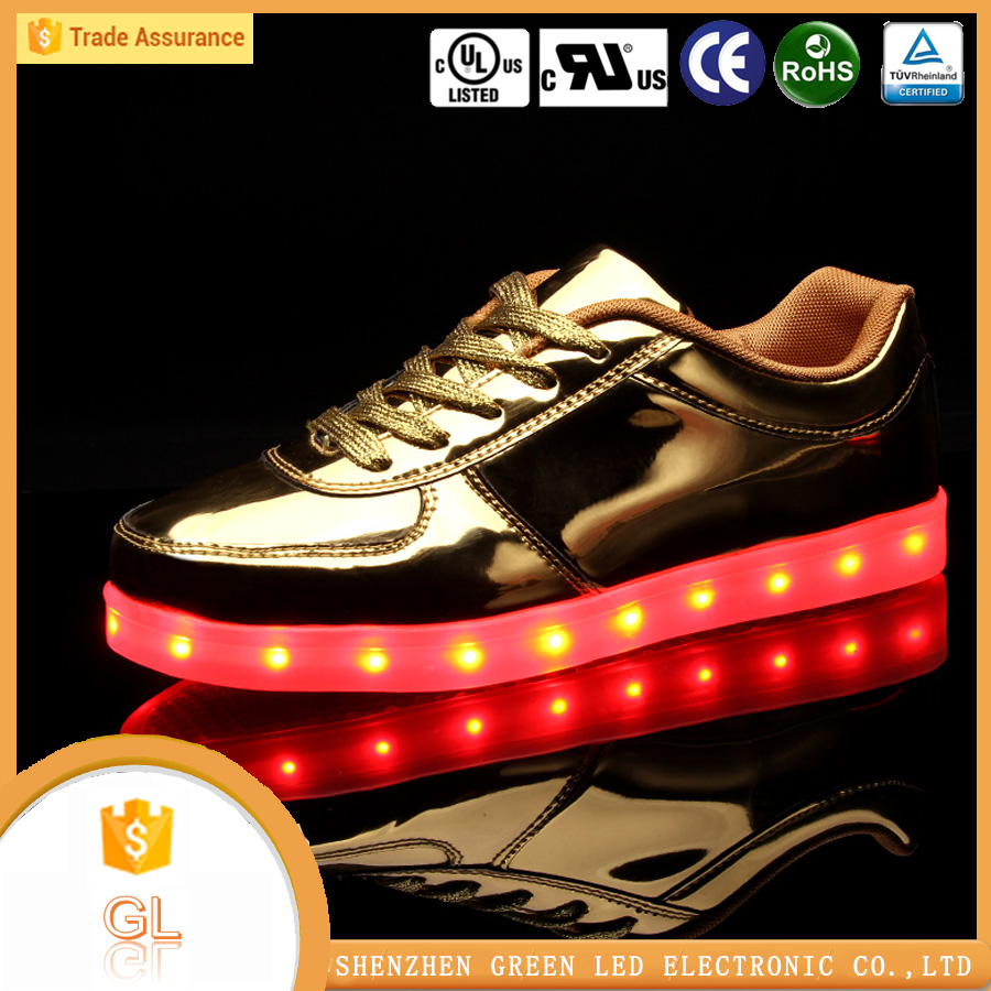 Sneakers shoes 2016 adults casual men shoes led light up shoes