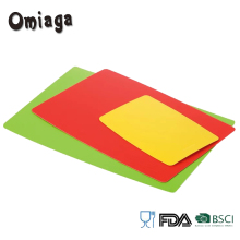 3pcs food grade custom plastic cutting board set