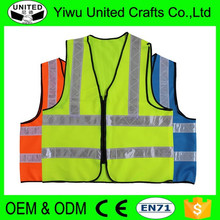 2016 high visibility fabric blue safety reflective jacket
