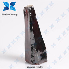 Wholesale light garnet rough cz synthetic colored stones for jewelry