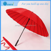 Retail large strong 24ribs bright color manual open golf rain umbrella