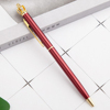 The crown ball pen metal ballpoint pen fpr Lady wedding office school roller ball pen Rose gold