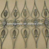 decoration wrought iron stair railing parts