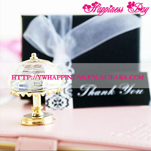 Vintage Cystal Lamp Shaped Favor Crystal Gift Wedding Decoration Gifts Favors Supplies