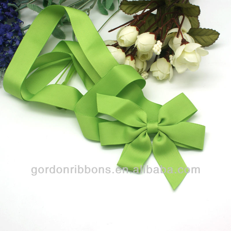 green gift packaging grosgrain ribbon bow for gift box