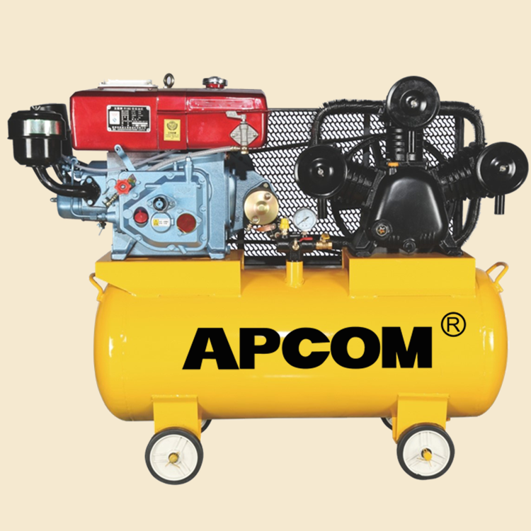 AW9016 8hp 16bar 30CFM <strong>100</strong> liter air tank automobile tire inflation portable diesel air compressor