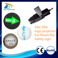 OEM Factory custom portable advertising 20w logo projector