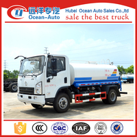 howo 4*2 mini water tank truck with new styles