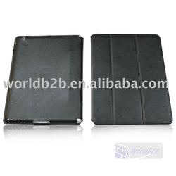 Leather Case for iPad 5 with three folded