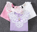 Wholesale Fashion kids long sleeve t-shirt cheap lace t-shirt in bulk