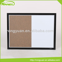 MDF aluminium double frame cork sheet combo shaped dry erase board