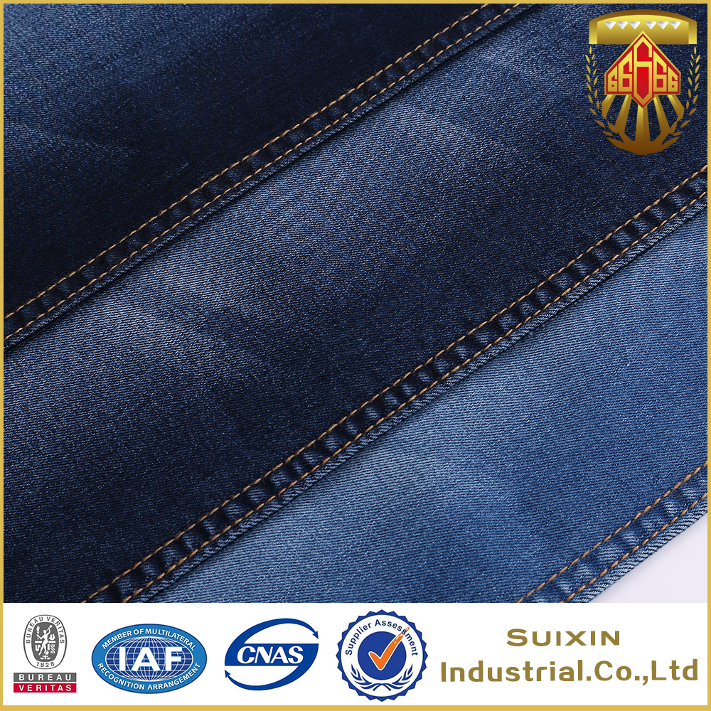 6.8oz cotton polyester spandex blend denim fabric for jeans
