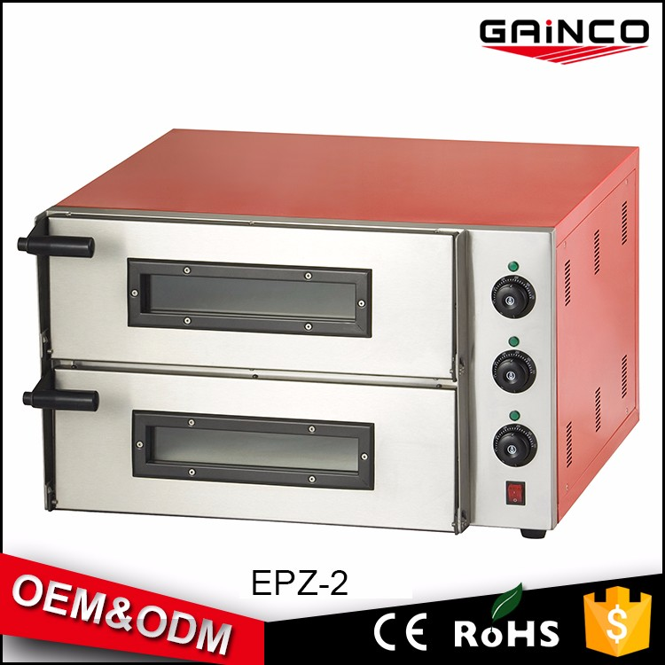 gainco stainless steel thermostat control oven for pizza baking equipment