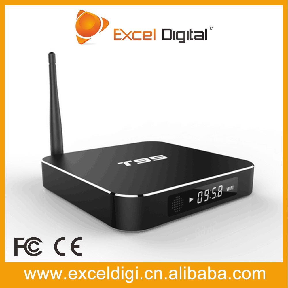 High quality Oem/Odm T95 Android 5.1 Amlogic S905 Quad Core lcd display Set Top Box android tv box 4k play free tv channels