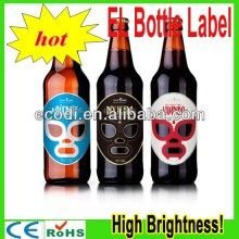 High Brightness!! China wholesale proudct Custom Beer/wine LED Label/el wine advertising