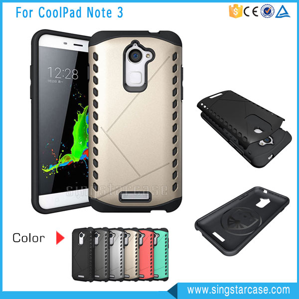 Hot Selling For Coolpad Note 3 Lite Hybird Case, 2 in 1 Shield Hard Case For Coolpad Dazen Note 3 Lite