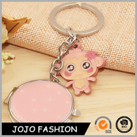 2016 New Arrived Animal Cute Monkey keychain llaveros With Mirror For Women Bag Charm