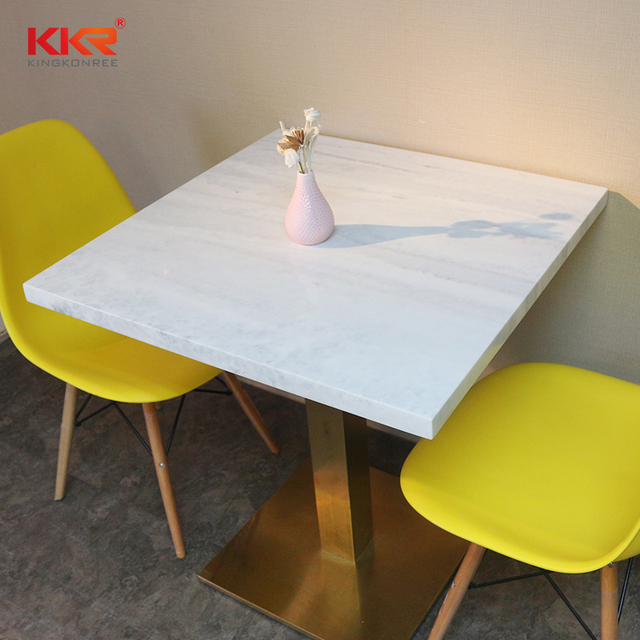 Artificial Marble Restaurant Cafe Bistro Table And Chair Sets