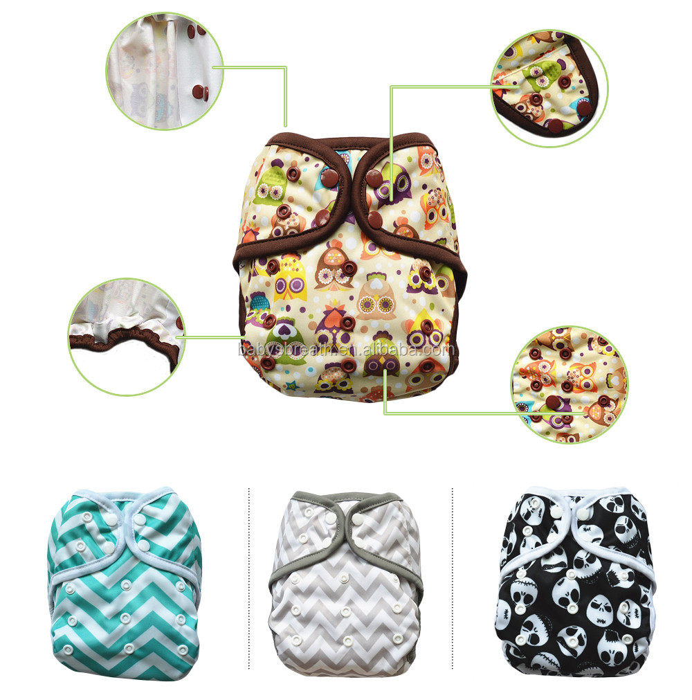 BCD080 Factory sale Plain Baby Print Adult Diaper Covers Cloth Diapers