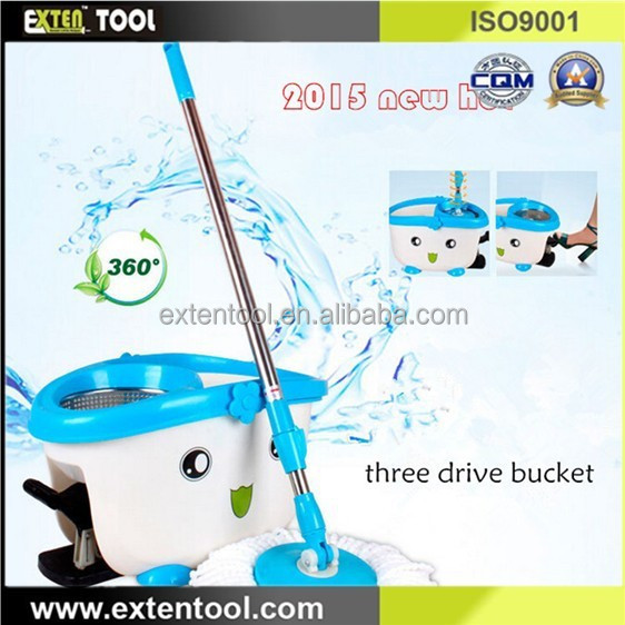 Household Cleaning Spin Mop Bucket and Go Pro Mop