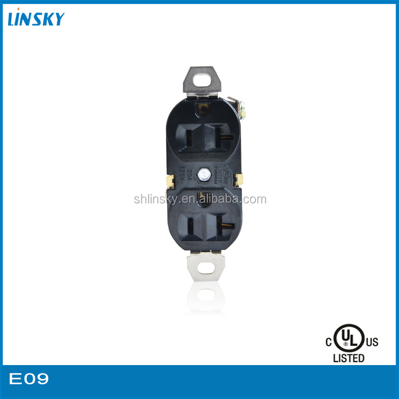 Wholesale Power 20A Black Standard switch and socket wall