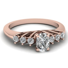 Rose gold plated oval shaped finger silver pakistani wedding rings