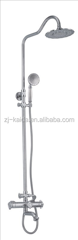 Antique Bronze/Gold/Oil Rubbed Bronze Effect Solid Brass Bath Filler Mixer Shower with Diverter