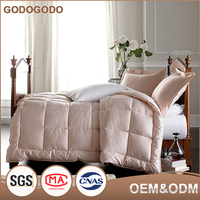 Wholesale Professional Custom-Made Size And Fabric Home 100% Cotton Jacquard Cover Thick Soft Feather Quilt