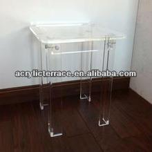 S shape waterfall lucite side table