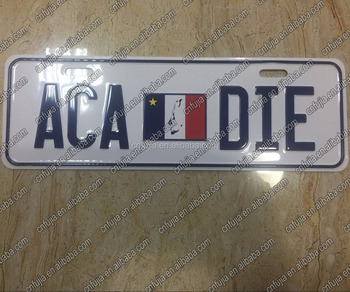 Wholesale OEM embossed License plate,cutomized car license plate,custom printed decor license plate