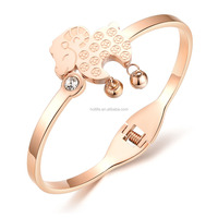 2016 fashion women jewelry 18K rose gold plated jewelry goat zodiac sign bracelet