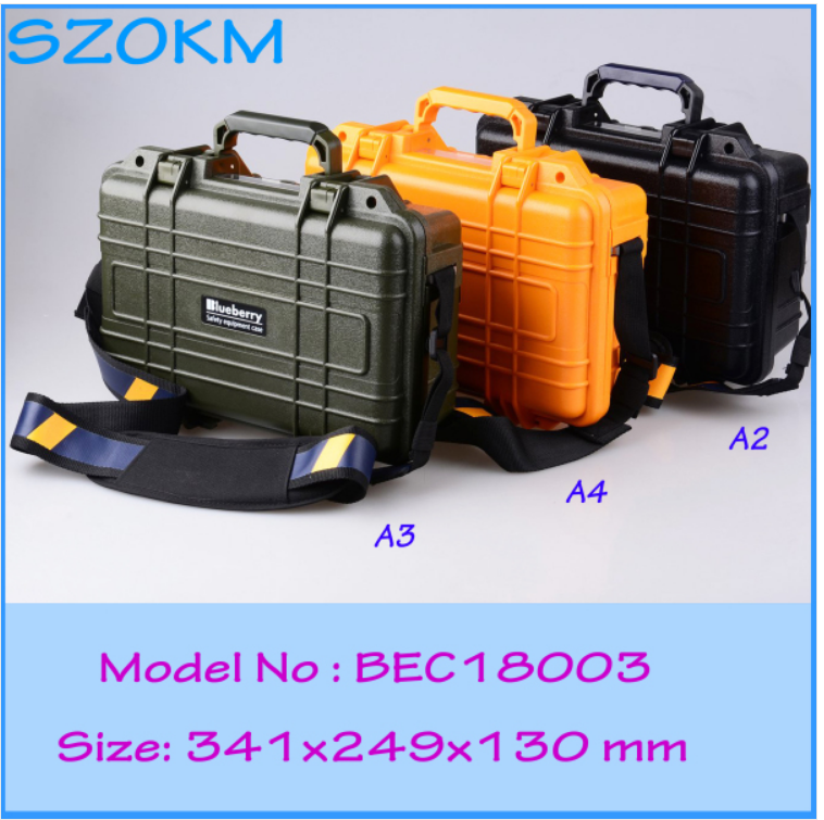 Plastic IP68 Protective Sealed Equipment Bag Tool Case for Electronics and Confidential Instrument