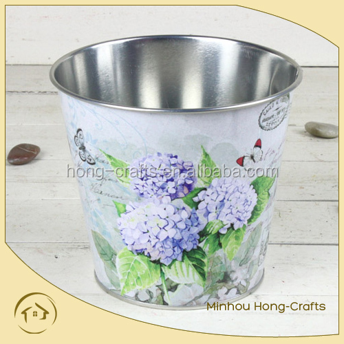 2014 new design round flower planter, metal flower pot for home decor