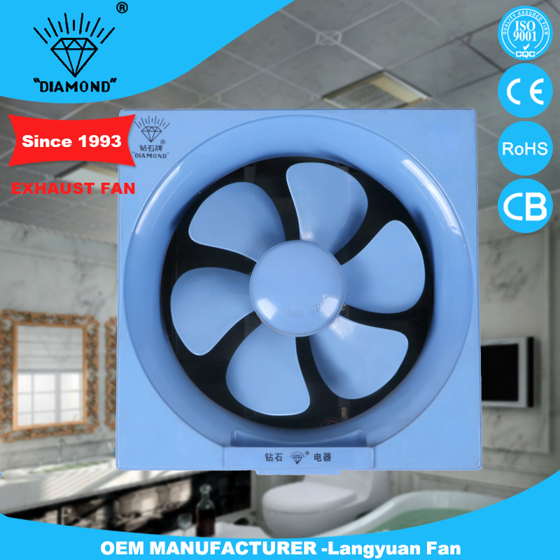 National plastic bathroom window exhaust ventilation fan square size