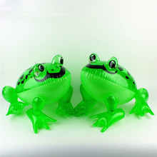 Children cartoon animal toys by factory sale led giant glowing frog Inflatable luminous frog jumping toys for kids