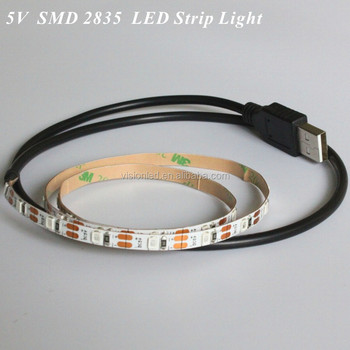 60leds SMD 2835 Flexible 5V LED Strip Light USB