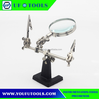 Wholesale 3rd helping hand magnifying soldering stand lens magnifier
