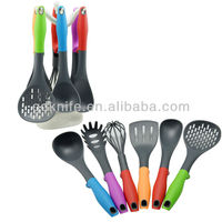 High quality nylon color TPR handle cooking tool kitchen utensils