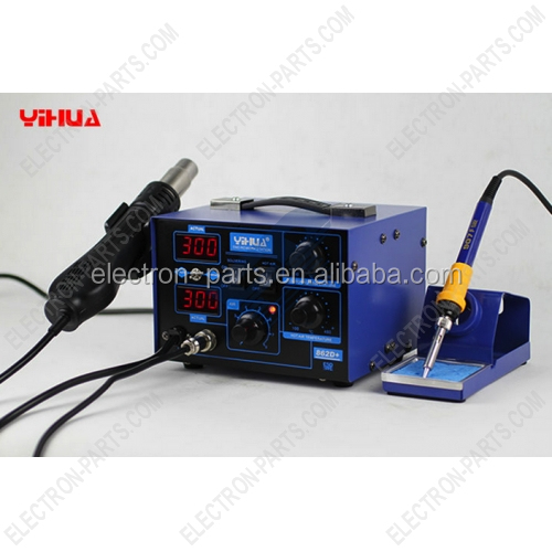 YIHUA soldering station 862d+, .Hot air and hot iron 2in1 soldering rework station, bga soldering station