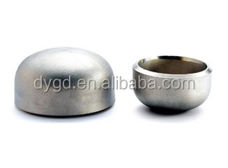 Cangzhou deyang Stainless steel cap fittings (elbow,tee,cross,reducer,glass clamp,etc)