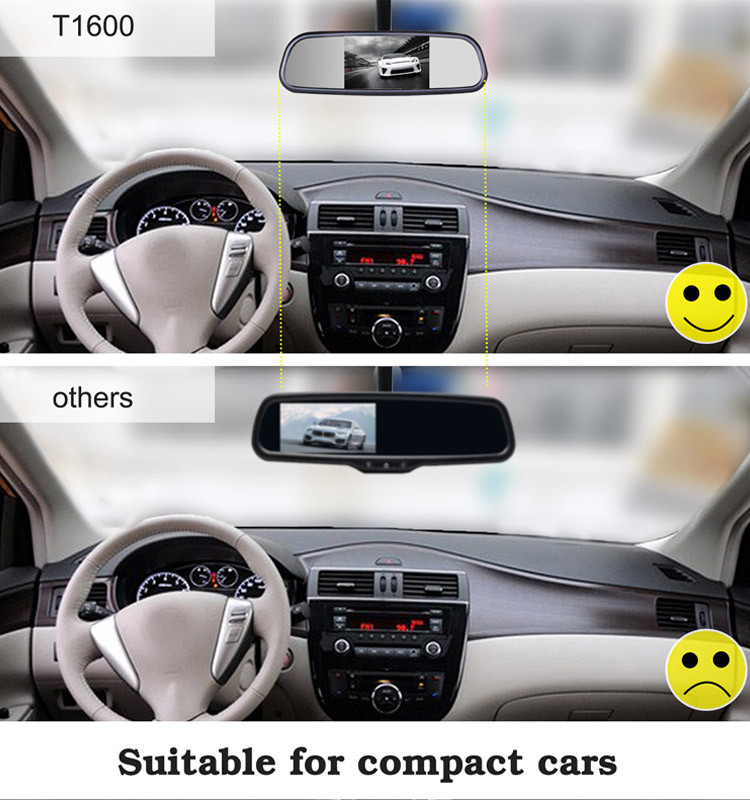 "Hot Sales Auto-adjusting Brightness 4.3"" Rear Mirror Car Monitor"