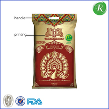 Durable top sell drawstring linen rice bag