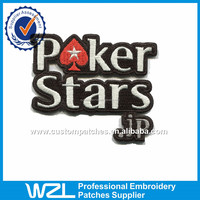 Poker sew on Embroidered Patches Letters design