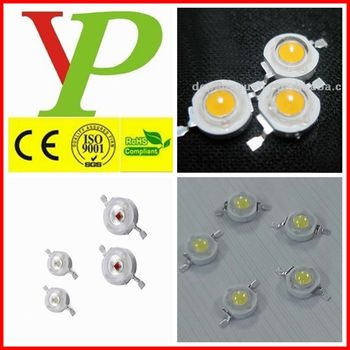 red green yellow white 1w 3w led high power diodes