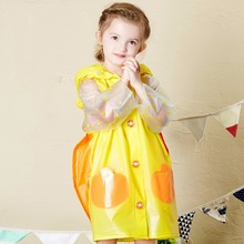 Hotsale new design cute carton Children cheap raincoats colorful Kids EVA raincoats