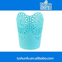 2015 plastic self watering flower pot,rectangle plastic flower garden pot,plastic flower planter