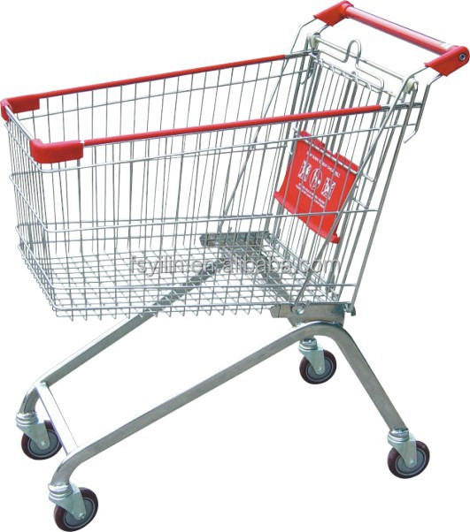 100 L supermarket shopping trolley/shopping cart